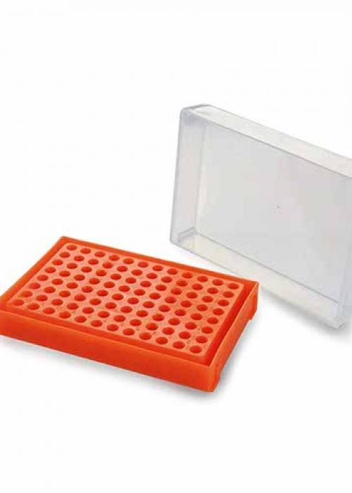 RACK PARA PCR - 96 POÇOS CORES SORTIDAS.
